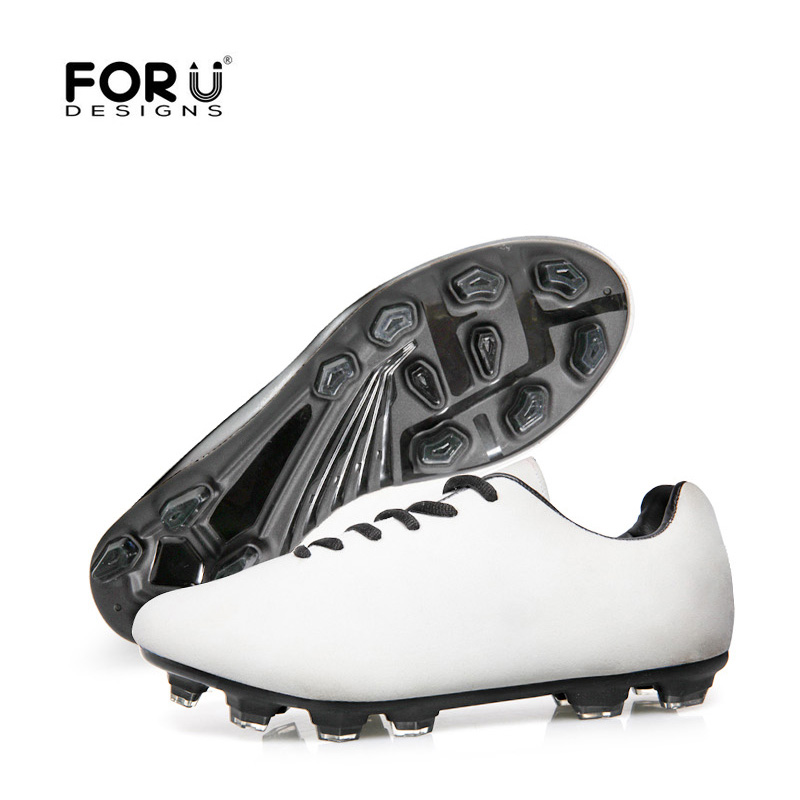 FORUDESIGNS Customize Your Style Sport Football Teenager Boys Soccer Shoes Male Sapotos Breathable Plus Size 39-44 Dropshipping health top soccer shoes kids football boots cleats futsal shoes adult child crushed breathable sport football shoes plus 36 45