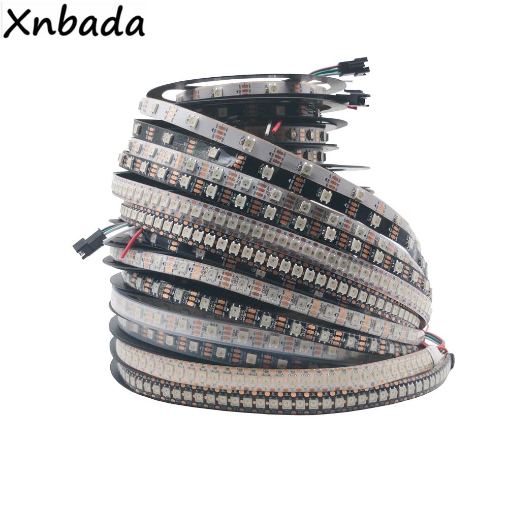 DC5V WS2812B WS2812 Led bande, 30/60/74/96/144 Pixels/Leds/m individuellement adressable Smart WS2812 IC RGB Led bandeDC5V WS2812B WS2812 Led bande, 30/60/74/96/144 Pixels/Leds/m individuellement adressable Smart WS2812 IC RGB Led bande
