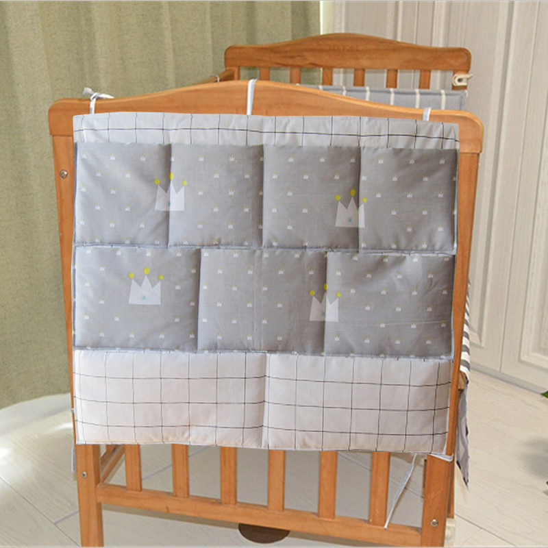 New Bed Bumper Baby Cot Bed Hanging Storage Bag Crib Organizer Storage Bag 60*50cm Toy Diaper Pocket for Crib Bedding Set