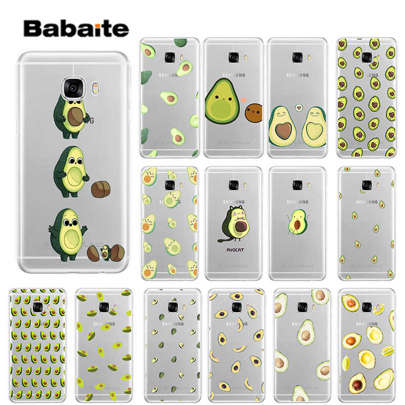 Babaite Cartoon cute avocado TPU Soft Silicone Phone Case Cover for Samsung S9 S9 Plus S8 S8plus S7 S6 S5 Cover