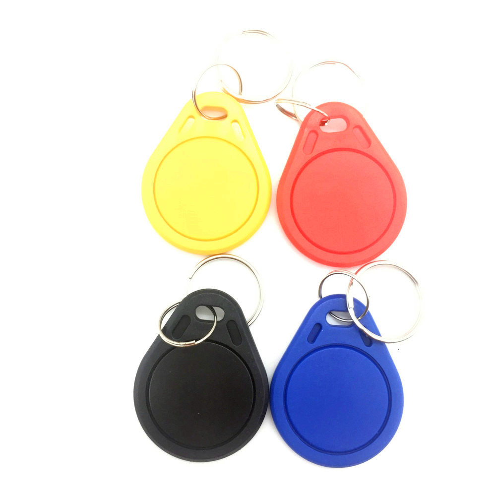 1PCS 13.56MHz RFID S50 IC Read Only Key Tags Keyfobs Token NFC TAG Keychain Keyfob Key Blue/Black/Red/Yellow