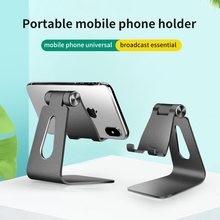 Portable Mini Mobile Phone Stand Metal Adjustable Foldable Tablet Universal Desk Holder for iPhone X/8/7/6/5 Plus Samsung