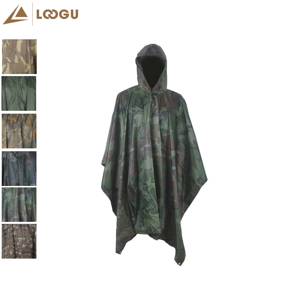 Multifunction Raincoat Military Camo Poncho Bionic Invisible Cloak Lightweight Rain Cover Outdoor Camping Hunting Climbing Fish