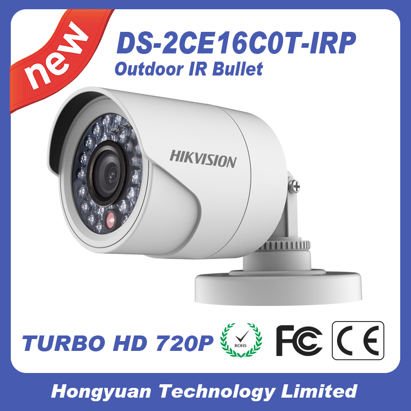 Hikvision cctv camera HD720P IR Bullet Camera DS-2CE16C0T-IRP night camera hikvision ds 2ce16c0t ir 3 6mm original bullet camera outdoor analog camera ir tvi 720p 1mp