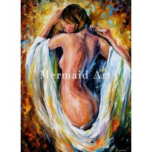 Hand Painted Landscape High Quality Abstract Palette Knife Naked Figure Modest Girl Oil Painting Canvas Decoration Living Room