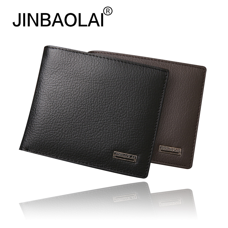 Luxury Genuine Leather Men Wallet Short Male Purse Bifold Black Male Bag Casual Coin Purse Men's Bag Card Holder Quality Wallets