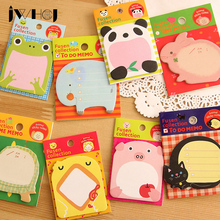 цена на 4pcs /lot kawaii Cartoon animal memo pad paper sticky notes post it notepad stationery papeleria school supplies Free shipping