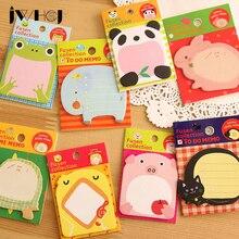 4pcs / lot kawaii Cartoon animal memo pad papir klister notater post det notepad papirvarer papeleria skoleartikler Gratis forsendelse
