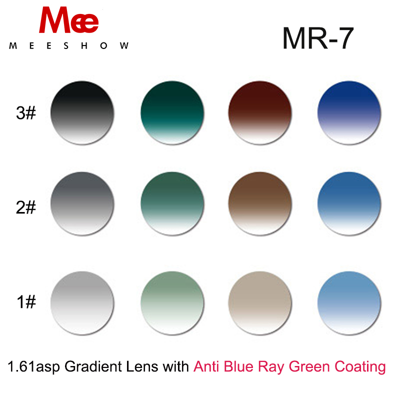 1.61 ASP Resin lenses Gradient Optical Lens UV400 Anti Blue Ray Coating custom Eyeglass for Myopia Presbyopia or Reading
