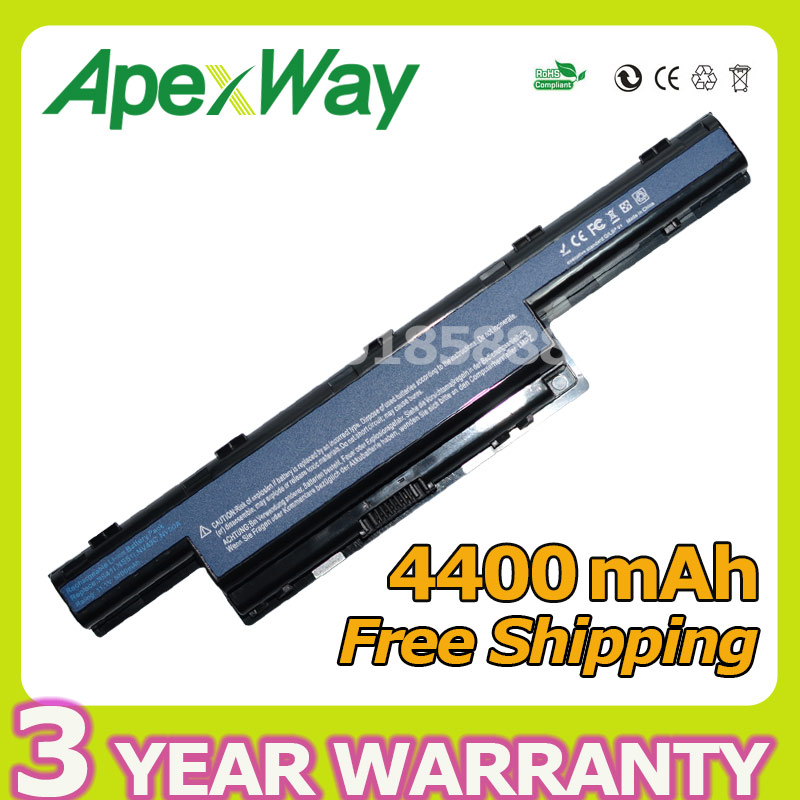 Apexway 6 Cell 4400mAh Laptop Battery for Packard Bell Easynote TK81 TK83 TK87 TK85 TK37 AS10G3E TS11HR TS11SB TS13HR TS13SB