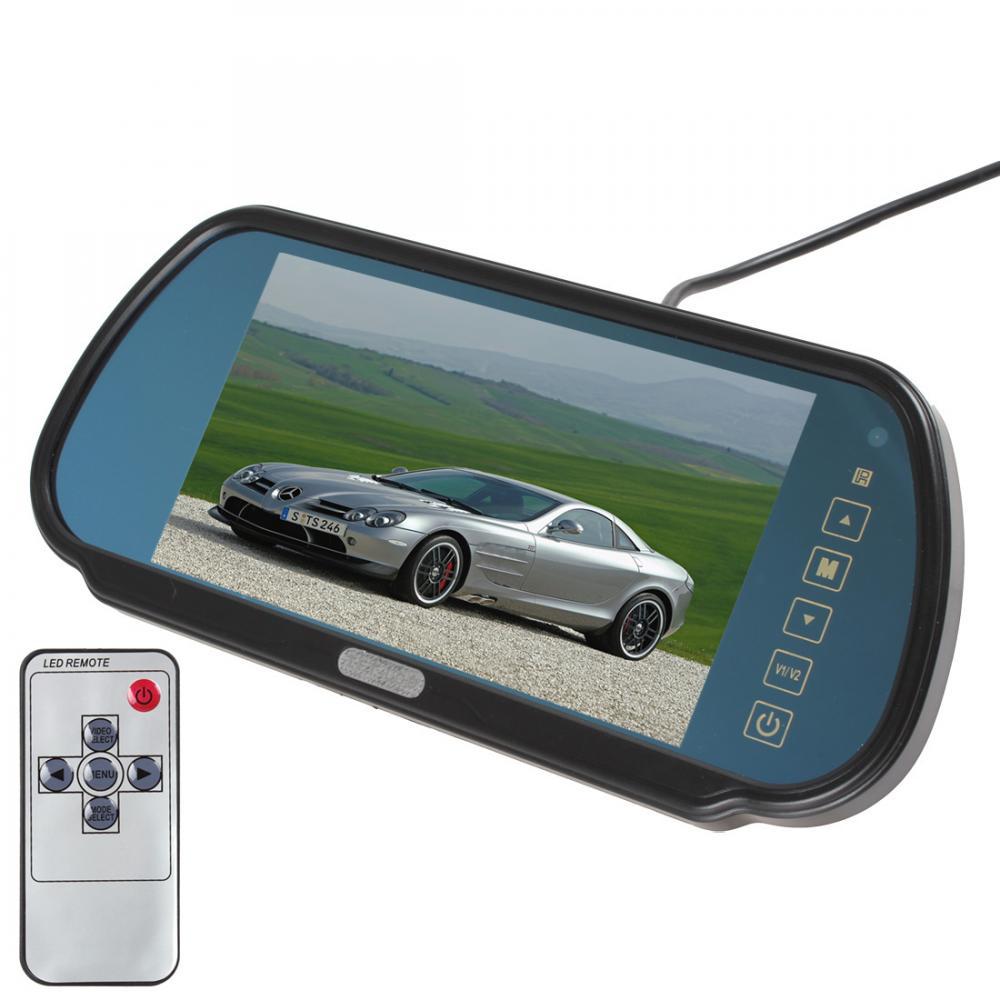 7 дюймов 480x234 TFT ЖК-дисплей Широкоэкранный 2 канала видео Вход заднего вида автомобиля Мониторы с сенсорной кнопки