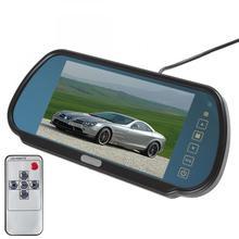 7 Дюймов 480×234 TFT ЖК-ДИСПЛЕЙ Широкоэкранный 2-канальный Видео Вход Заднего Вида Автомобиля Монитор с Сенсорной Кнопки