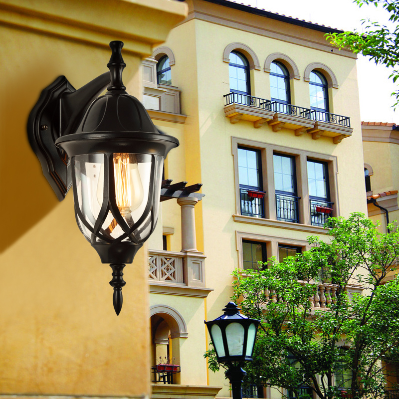 Outdoor Wall Lamps balcony Continental style wall lamp waterproof LED courtyard lamp villa corridor retro outdoor LU630208 ZL391 150 300mm outdoor waterproof one sided led wall lamp fitting corridor balcony up down single side outdoor lighting wall lamps