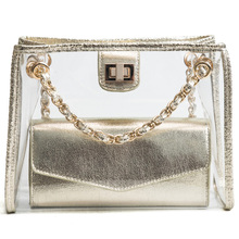 MONNET CAUTHY New Arrivals Female Bags Classic Fashion Transparent Jelly Crossbody Bag Solid Color Black Gold Sliver Ladies Flap