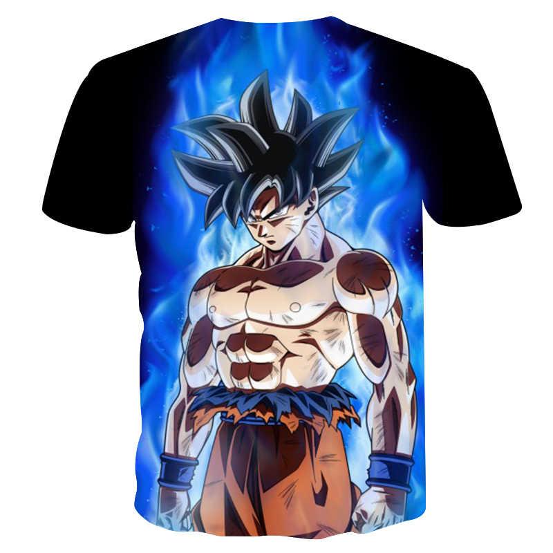 Новые Аниме Dragon Ball Z Goku 3d футболки Мода harajuku Лето для мужчин/мальчиков супер футболка Saiyan Топы аниме одежда странные вещи
