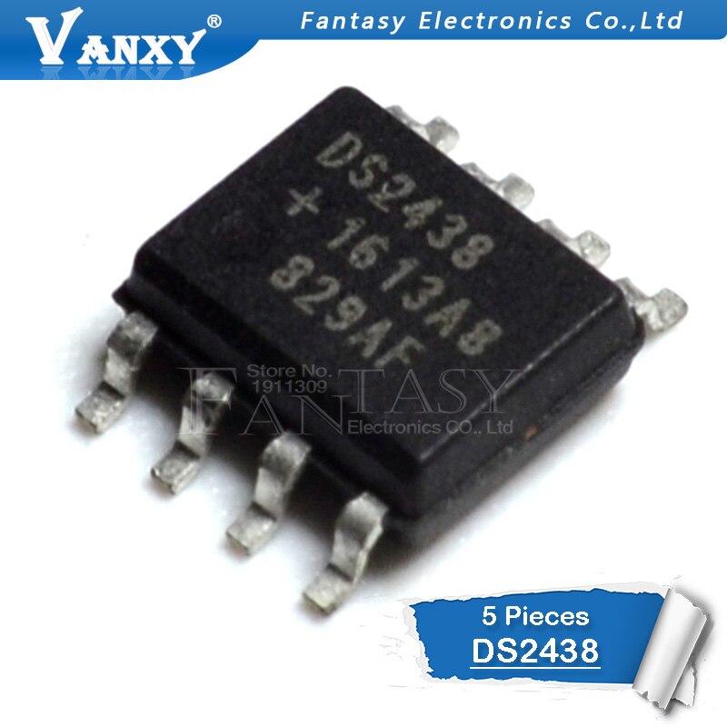 5PCS DS2438Z SOP8 DS2438 SOP SOP-8 Smart Battery Monitor New And Original