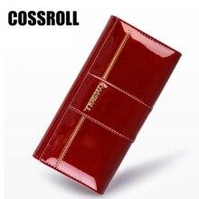 COSSROLL Neue HEIßE Verkauf Frauen Echtes Leder Geldbörse Mode Europa und Amerikanischen Stil Rindsleder Brieftaschen Damen Lange Kupplung