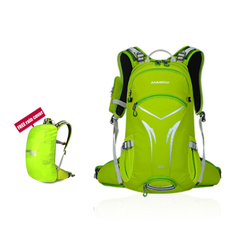 ANMEILU Outdoor Breathable Shoulderbag Backpack With Helmet Net 20L Waterproof Rucksack for Hiking Camping