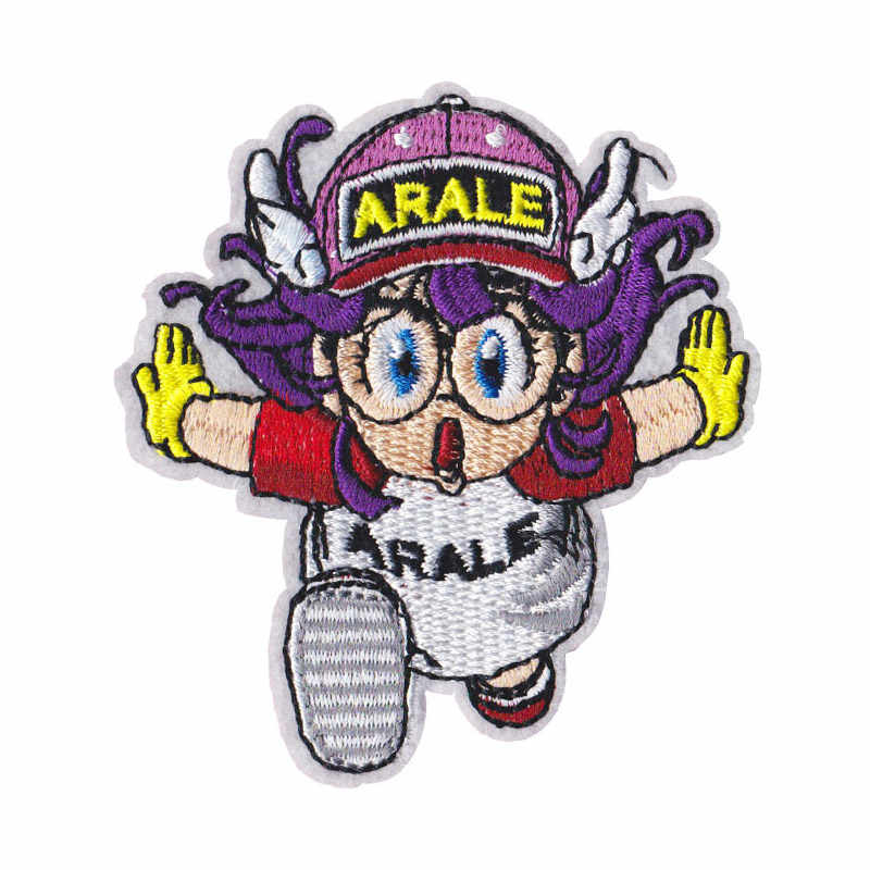 Cartoon Arale Embroidered Iron patches For clothing DIY Kids Anime TV clothes patch Badges Stickers Garment Appliques wholesale