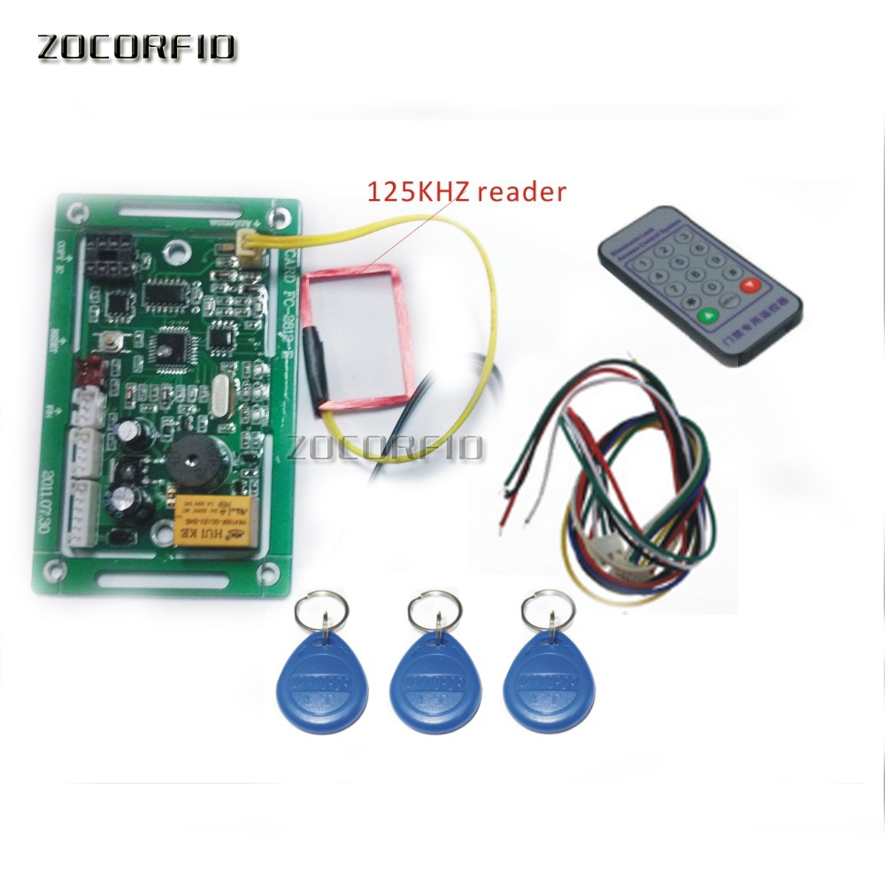 125KHZ RIFD embedded entrance guard controller, access control board, remote registered users+10pcs ID card