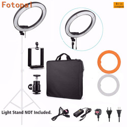 Fotopal 18 LED Photography Video Studio Ring Light Annular Lamp 5500K Dimmable Diital LED Photo Phone Camera Light For Youtube