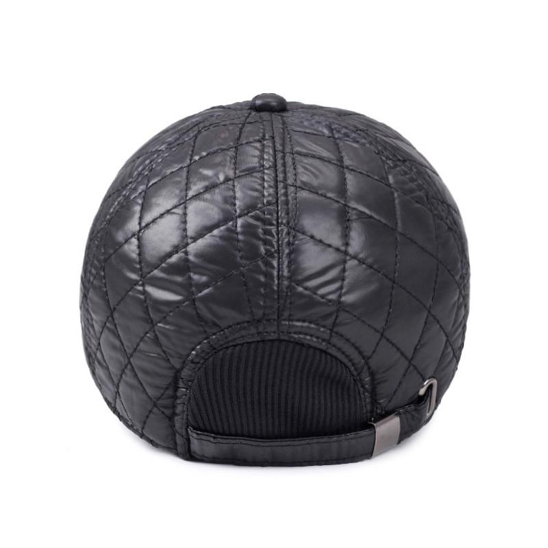 [AETRENDS] Vinter Mænd Cap Baseball Hat Plaid Stilfuldt med Øre - Beklædningstilbehør - Foto 4