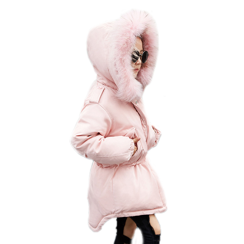 children's winter jackets boys girls winter coats solid thicken warm kids parka coat coloful big collar hooded kids down jacket