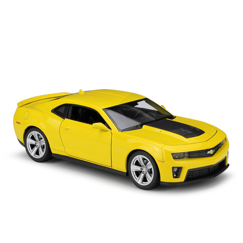 WELLY CHEVROLET CAMARO ZL1 YELLOW 1:43 DIE CAST METAL MODEL NEW IN BOX