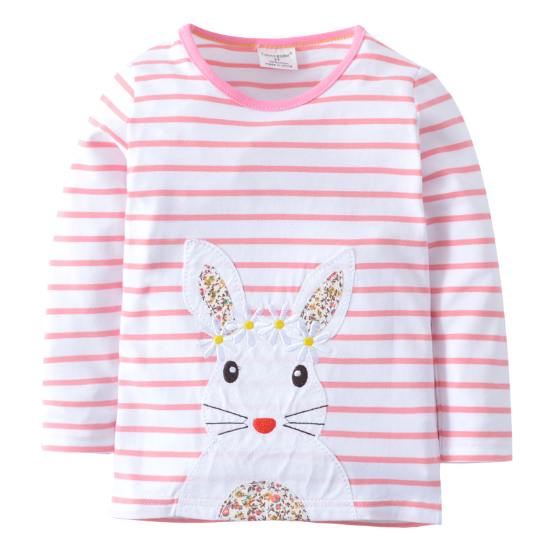 Baby Girl T Shirt Kids Long Sleeve Tops 100% Cotton 2018 Brand Spring Clothes Girls Tops Children Clothing 2-7T