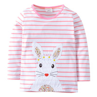 Baby Girl T Shirt Kids Long Sleeve Tops 100 Cotton 2018 Brand Spring Clothes Girls Tops