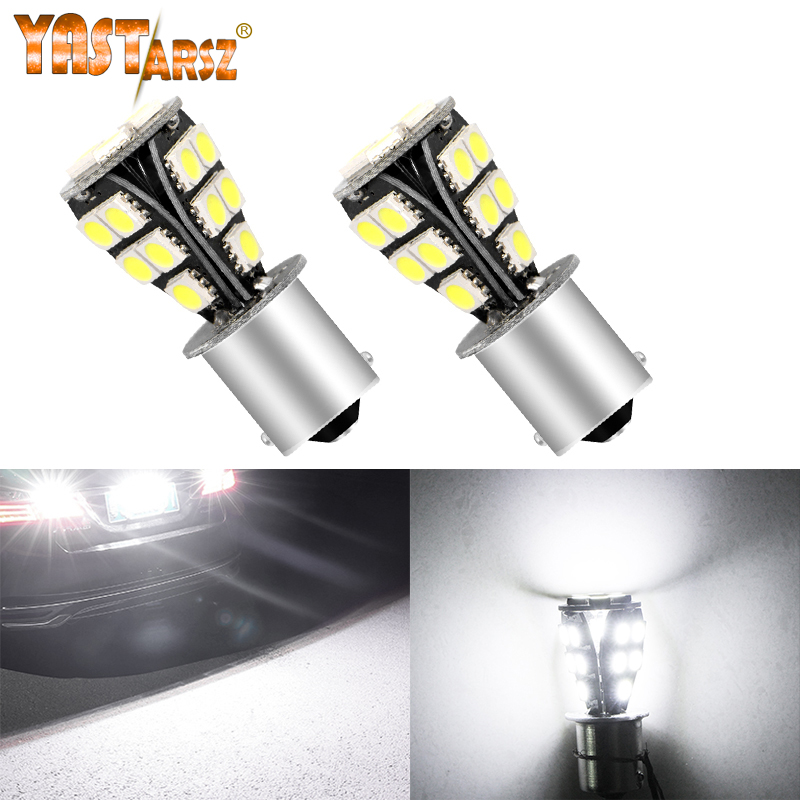 2x P21W 1156 Rear Canbus LED STOP BRAKE RED Lights Bulbs Error Free For Mercedes