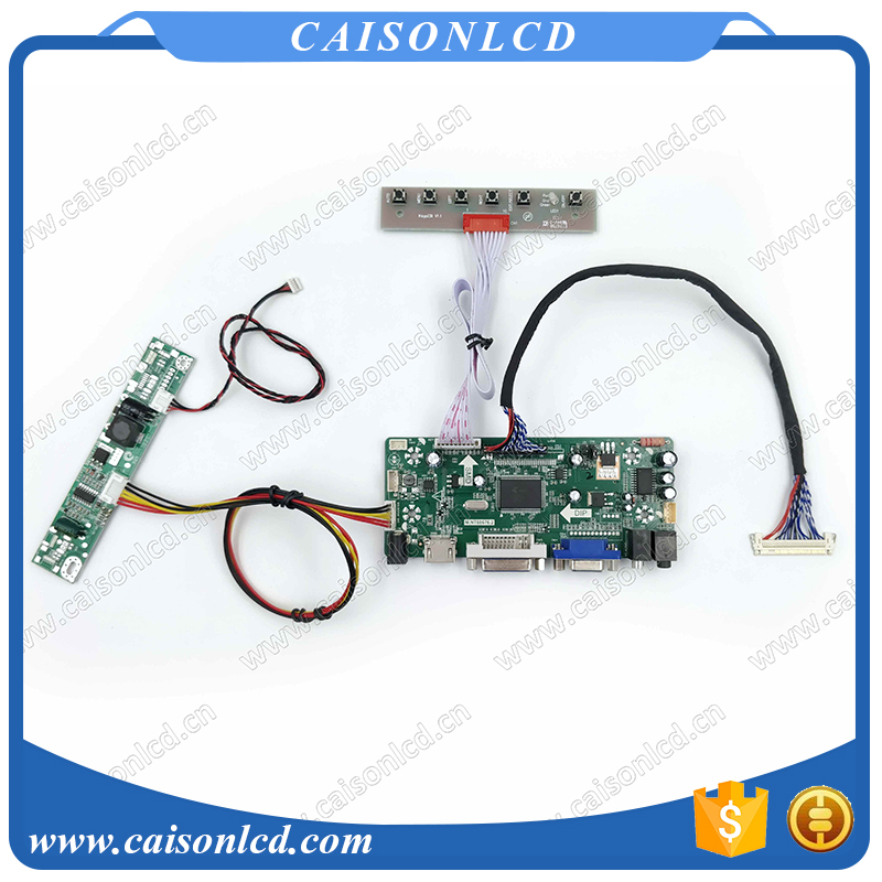 Free Shipping LCD LVDS Controller board with HDMI DVI VGA for 21 5 1920X1080 LCD TFT