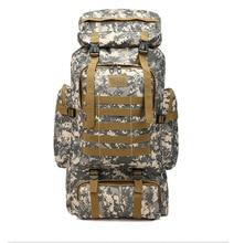 80L Camouflage Backpack Woman Men Hiking Camping Mountaineering Backpack Waterproof Durable Ultralight Stronge Storage Bags trendy durable men backpack