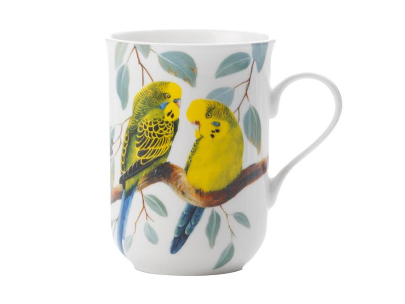 Mug MAXWELL & WILLIAMS, Birds of the World, Wavy parrots, 300 ml free shipping 12 pieces set birds toy model dove parrots toucan seagull crane eagle egret plastic flying animals mini figures