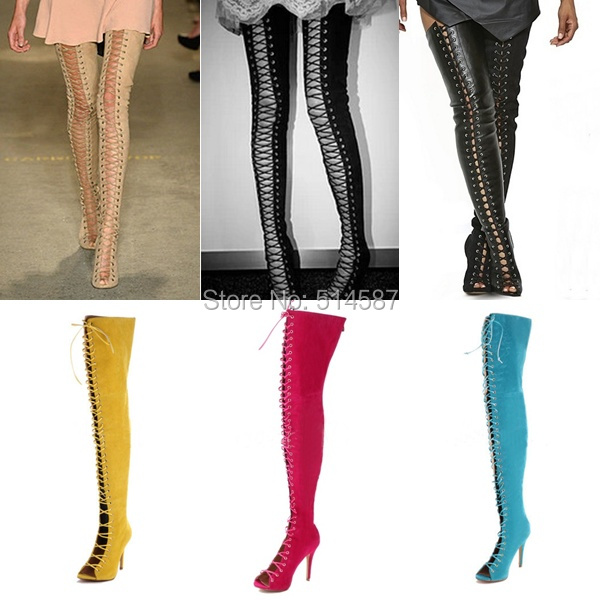 Aliexpress.com : Buy Plus Size 13 New Spring sexy thigh high boots ...