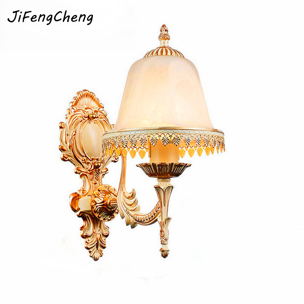 Continental Wall Lamp Bedroom Bedside Lamp Wall Sconce Hotel Zinc Alloy Balcony Sconce Indoor European Single Head Wall Light зимняя шина continental contivikingcontact 6 225 55 r17 101t