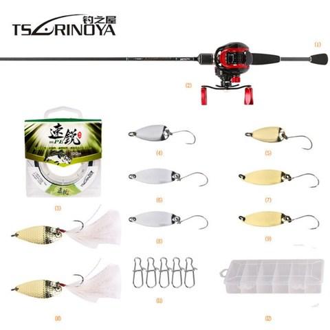 tsurinoya vara de pesca de combinacao com rod linha reel carretel da carcaca de isca