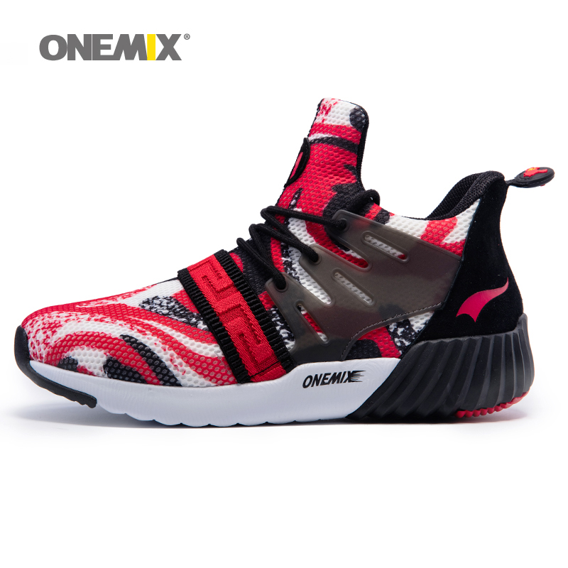 ONEMIX 2017 New Men Running Shoes Breathable Boy Sport Sneakers Unisex Athletic Shoes Increasing height Women Shoes Size 36-45