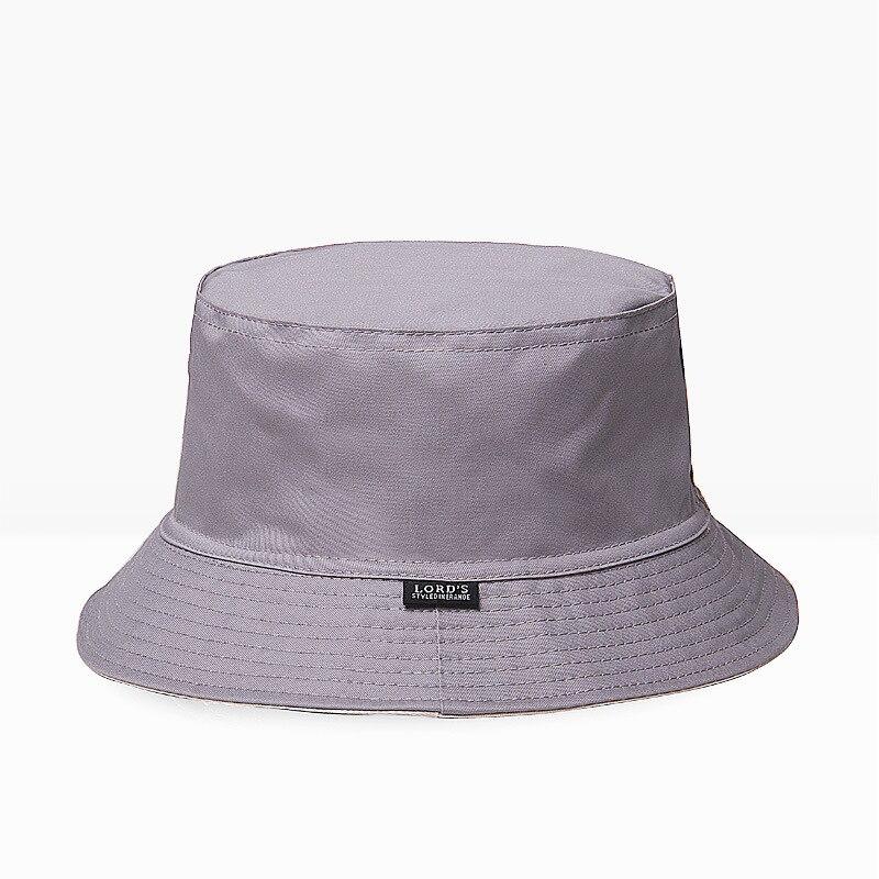 05f96715 Male Big Head Plus Size Panama Hat Pure Cotton Sun Hat Men Plain Fishing Cap  Women Two Sides Wear Bucket Hats M L 54 60cm-in Bucket Hats from Apparel ...