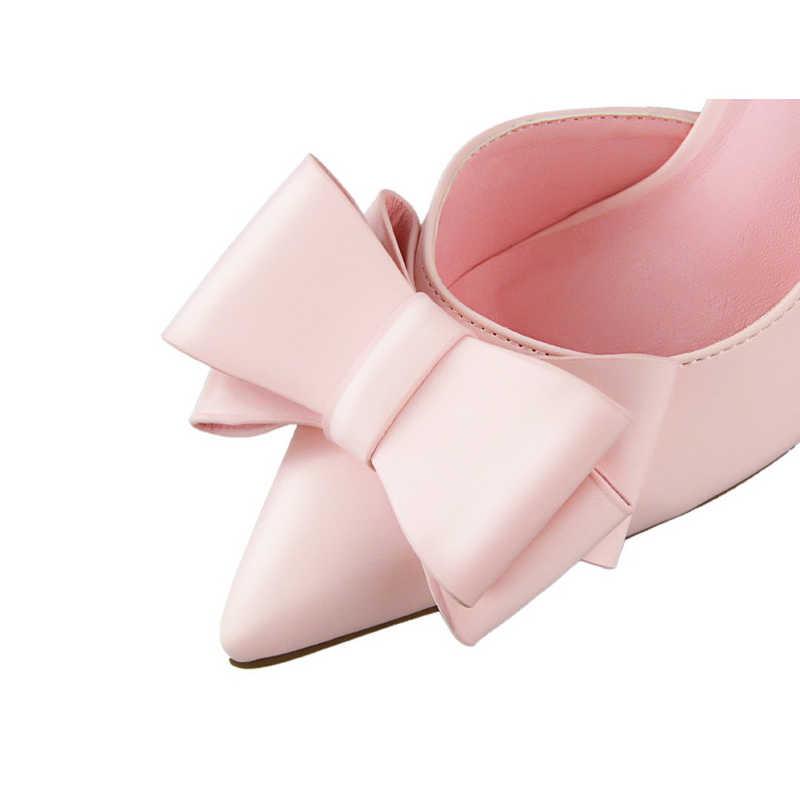 Quanzixuan 2018 moda kobiety pompy Sexy wysokie obcasy buty ślubne stałe szpiczasty nosek szpilki łuk kobiet buty białe buty damskie