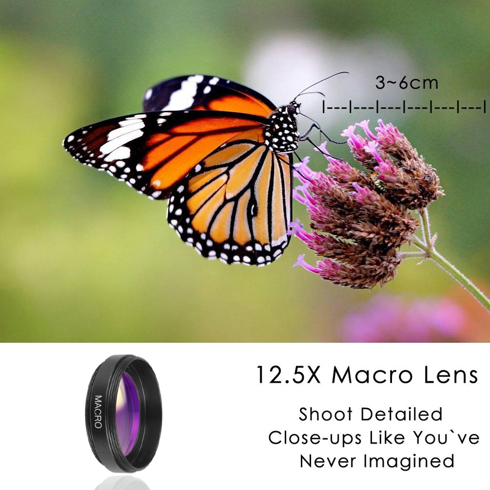 APEXEL Phone Lens kit 0.45x Super Wide Angle & 12.5x Super Macro Lens HD Camera Lentes for iPhone 6S 7 Xiaomi more cellphone-in Mobile Phone Lenses from Cellphones & Telecommunications on Aliexpress.com | Alibaba Group 6