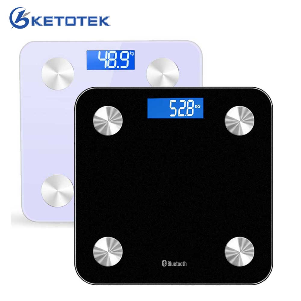 3-180 KG Bluetooth 4.0 APP Digital Personal Body Scale Glass LCD Bathroom Floor Weighing Balance Electronic Scales