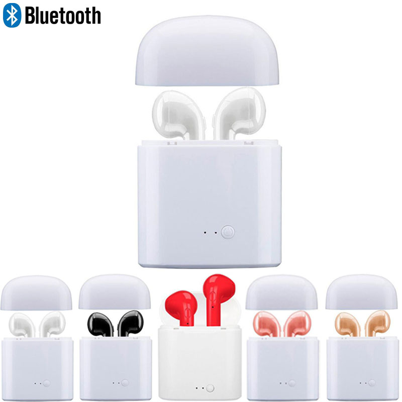i7S TWS earphone hands free blutooth earphone Stereo music Wireless earphone for iPhone X iPhone 8 Galaxy 8 xiaomi hauwei earpod