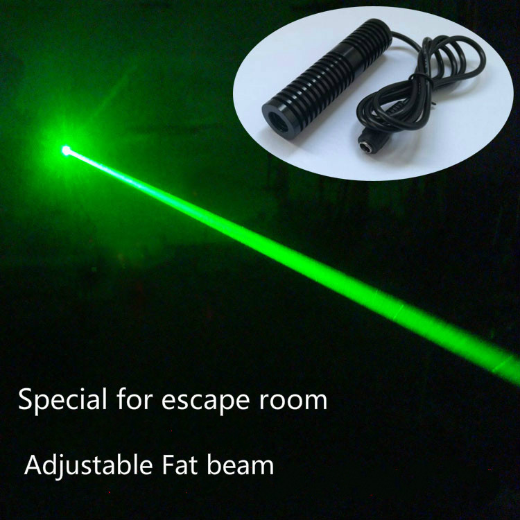 Green laser transmitters Takagism game real life room escape props green laser arrays transmitter device 50mw 532nm green laser module 12v dc input room escape maze props bar dance lamp