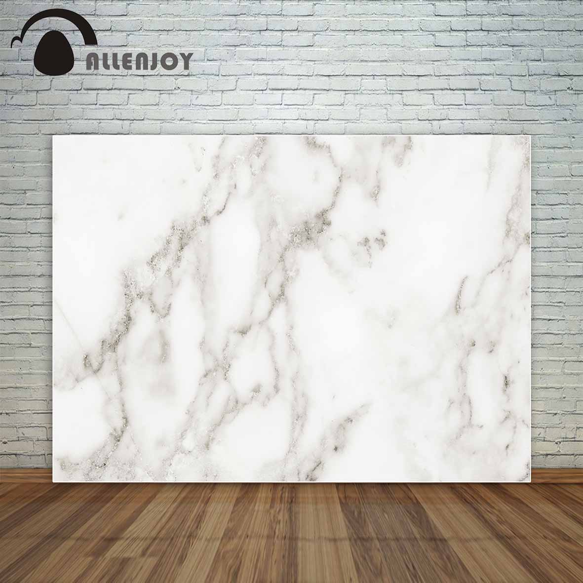 Allenjoy White marble texture with natural gray pattern for background backdrop party background cloths photography vinyl