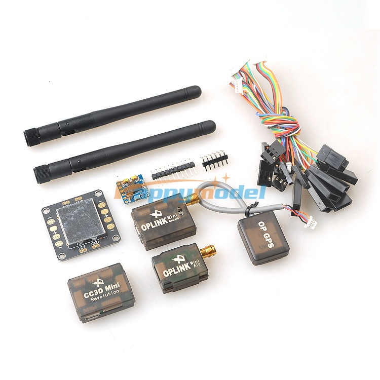 Mini CC3D Revolution Flight Controller FPV Combo with OP Mini GPS + OSD + Mini OPlink Telemetry Kit + 5V 12V BEC PDB fpv s2 osd barometer version osd board read naza data phantom 2 iosd osd barometer with 8m gps module