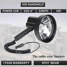 6inch 55W hid handheld spotlight used for hunting fishing