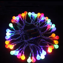 Ball 4M 40 LED Battery Operated LED String Lights for Xmas Garland Party Wedding Decoration Christmas Flasher Fairy Lights