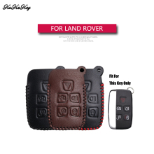 Genuine Leather Remote Keyless Car Key Case Cover For Land Rover Freelander 2 3 Range A8 A9 Discovery Bag