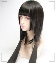 WTB Anime Hell Girl Enma Ai Wig Cosplay Costume Jigoku Shoujo Mitsuganae Long Black Synthetic Hair Halloween Party Wigs printio ai enma hell girl